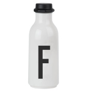 Design Letters AJ Water Bottle with letter - F