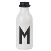 Design Letters AJ Water Bottle with letter - M