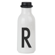 Design Letters AJ Water Bottle with letter - R