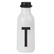 Design Letters AJ Water Bottle with letter - T