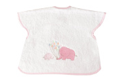 Large Embroidered Bibs Pink Elephants