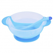 SERDA Baby Stay Put Suction Bowls Unbelievabowl with lid and spoon