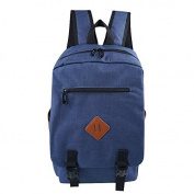 Buzzycoser Fashion Navy Blue Canvas SchoolBag Travel Rucksack Women Men Sporting Casual Backpack