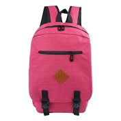 Buzzycoser Fashion Magenta Canvas SchoolBag Travel Rucksack Women Men Sporting Casual Backpack