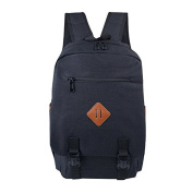 Buzzycoser Fashion Black Canvas SchoolBag Travel Rucksack Women Men Sporting Casual Backpack