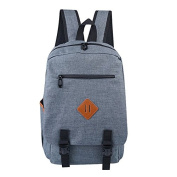 Buzzycoser Fashion Grey Canvas SchoolBag Travel Rucksack Women Men Sporting Casual Backpack