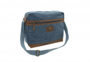 CACTUS Canvas and Distressed Oiled Leather A4 Messenger / Laptop Bag CM813_ 81 Denim