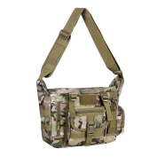 iTECHOR Mens Nylon Large Crossbody Bag Shoulder Bag Pack for Ipad/ Notebool/ A4 Magazines - CP Camouflage