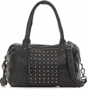 Becksöndergaard Handbag 21644 Tama Black 100% Lambskin Leather Studs
