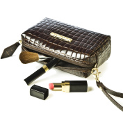 Small Snakeskin Clutch Bag Designer Leather Makeup Purse Ladies Vintage Evening