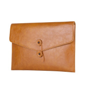 Safelake Brown Flap-over String Pouch Vintage Clutch Bag Ipad Organiser Casual Business Portfolio