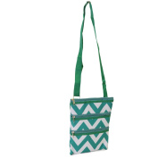 Women's Chevron Print Nylon Crossbody Purse Zipper Shoulder Bag