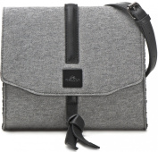 MIYA BLOOM Women's 1009 Cross-Body Bag Grey Grau / Schwarz