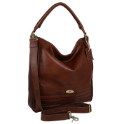 Ladies Veg Tan Leather Slouch Scooped Bag Handbag by Rowallan; Pancho Shoulder