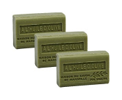 Maison du Savon - Set of 3 Soaps with Shea Butter, Olive Oil, 3x125 g