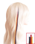 Fun Hair Strands for World Cup Fans - 3 45 cm - Black, Red, Yellow