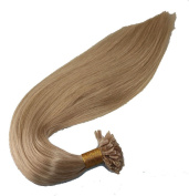 Nail U-Tip Hair Extentions 36cm 41cm 46cm 50cm 60cm 60cm 100% Human Remy Hair Straight 18# Ash Blonde