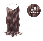 Flip Chestnut Halo Hair Extensions - wavy 50 cm 120g