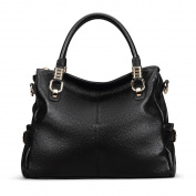 Meijia Fashion Women Genuine Leather Top-handle Tote Inclined Shoulder Bag