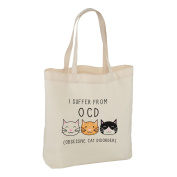 I SUFFER FROM OBSESSIVE CAT DISORDER TOTE SHOULDER BAG - Crazy Cat Lady OCD