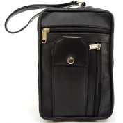 Super Soft 100% Luxury Leather Travel / Holiday Bag with Wrist Strap