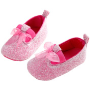 Anna-Kaci Baby Girl Comfortable Bling Princess Newborn Shoes 12-18 Months Pink