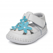 Little Blue Lamb Baby Shoes 1491 First-Step Sandals 35613 White/Turquoise, Size