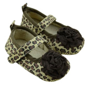 Lyshi Baby Girls Toddler Soft Sole Leopard Mary-jane First Walking Shoes