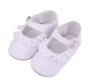 Lyshi Baby Girl Toddler Lace Soft Sole Sneaker First Walking Shoes