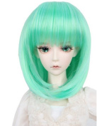Drasawee Synthetic BJD Doll Wig Hair Style Head Green 20cm - 23cm