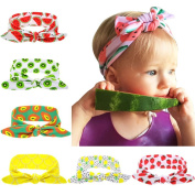 Baby Girl Summer Fruit Turban Knot Rabbit Hair Hoops Headbands