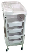 Teknoh Luxure - White - Salon Storage Trolley - Hairdresser Barber Hair Beauty Drawers Spa Cart
