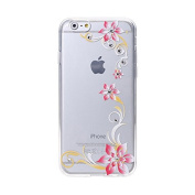 Samidy iPhone 6 6s Case, 3D Flower Bling diamond Case for iPhone 6 12cm with a Screen Protector
