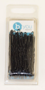 Professional Hairdressing 5.1cm Inch Waved Hair Grips Pins Black x 50
