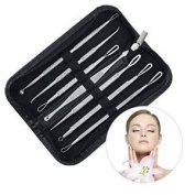 Olym Store Blackhead and Pimple Remover Kit -Zap Unwanted Zits, Comedones, Blackheads, Whiteheads and Other Skin Bumps with An Easy-to-Use, Professional-Grade and Portable, Extractor Used Instructions Included - Excellent for Acne Treatment, Pimple Pop ..
