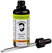 Greendoor BIO Beard Oil Farmers Blend,50ml Premium Beard care oil in elegant Black glass bottle with Pipette,extra care bio oil for the Beard care+natural essential oil,vegan,no preservatives,Beard