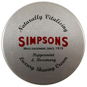 Simpsons Shaving Cream, Peppermint & Rosemary, 125 ml Tin by Simpsons