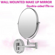 Home Care Wholesale® Bathroom Mirror with Extending Arm - Double-Sided Mirror for Shaving, Make-Up and Cosmetics