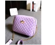 Classic Design Rivet Chain Messenger Bag - Purple