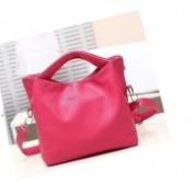 Versatile Leather Handbag - pink