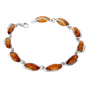 COGNAC BALTIC AMBER STERLING SILVER 925 JEWELLERY BRACELETS BEAUTY STONE, KAB-174