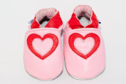 Soft leather baby shoes hearts