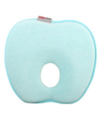 Newborn Baby Anti-roll Pillow Prevent Flat Head Pillow Blue [A]