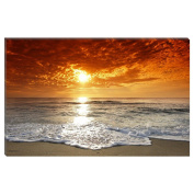 Visario 4038 Canvas Picture 80 x 60 cm Beach