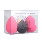 Start Makers 4pcs Makeup Sponge Set - Beauty Blender Sponge - Professional Face Eye Foundation Puff Multi Shape Sponges - Perfect for Foundation Powder Cream Mineral Blending
