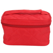 Women Travel Makeup Cosmetic Toiletry Wash Bags Case Double Zipper Handbag Organisers Red
