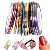 Contever® 38 colour rolls Nail Art Striping Tape Decoration Line
