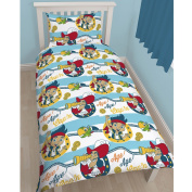 Disney Jake and The Neverland Pirates Sharks Junior Duvet Cover Set - 120cm x 150cm