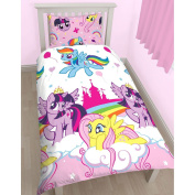 My Little Pony Equestria Rotary Print Duvet Set, Polyester, Multi-Colour, Single