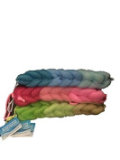 April Bath & Shower Back Band-29cm -Three Tone Blue,Pink & Green-with Rope on each end -Total 3 Back Bands